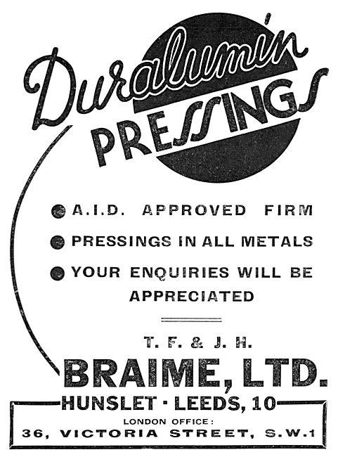 Braime Duralumin Pressings