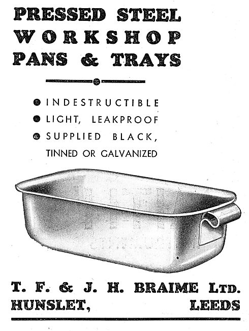 Braimes Sheet Metal Pressings - Workshop Pans & Trays
