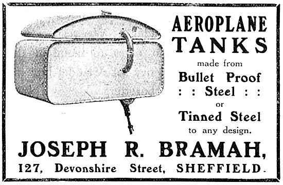 Joseph Bramah - Bullet Proof Aeroplane Fuel Tanks