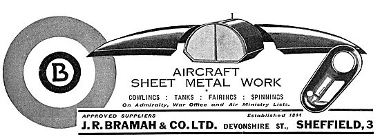J R Bramah & Co - Aircraft Sheet Metal Work