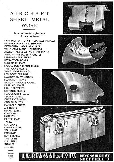 Bramah Aircraft Sheet Metal Work