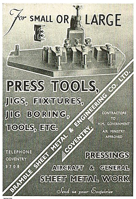 Bramble Engineering Press Tools, Fixtures, Jig Boring Etc