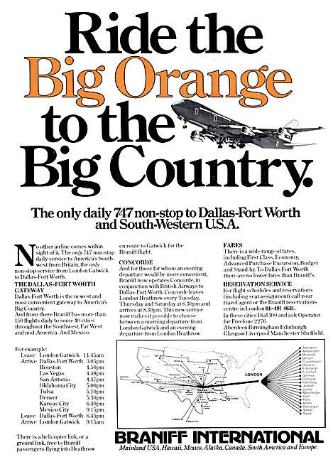 Braniff International  Big Orange