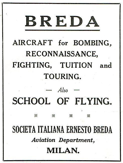 Breda - Aircraft For Bombing, Reconnaissance, Fighting & Tuition