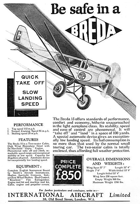 Breda 15 Light  Aircraft