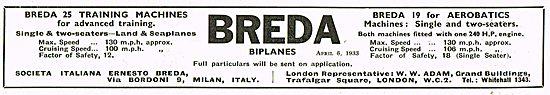 Breda 25 Training Machines Breda 19 for Aerobatics