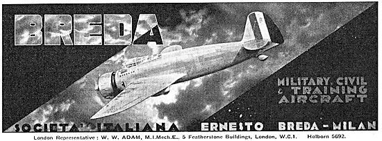 Breda - Aircraft : Societa Italiana Ernesto Breda