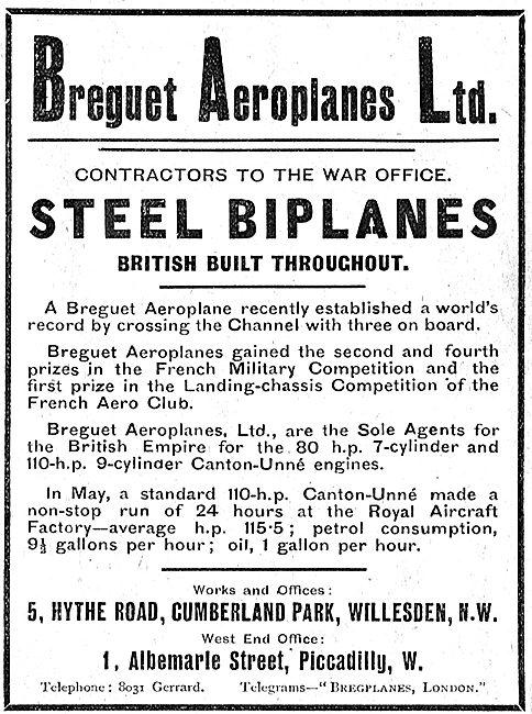 British Built Breguet Steel Biplanes