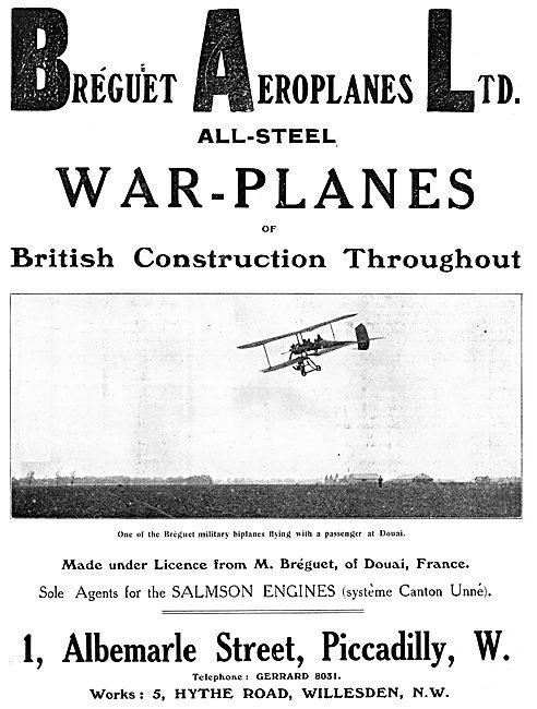Breguet All-Steel War-Plane. Breguet Military Monoplane