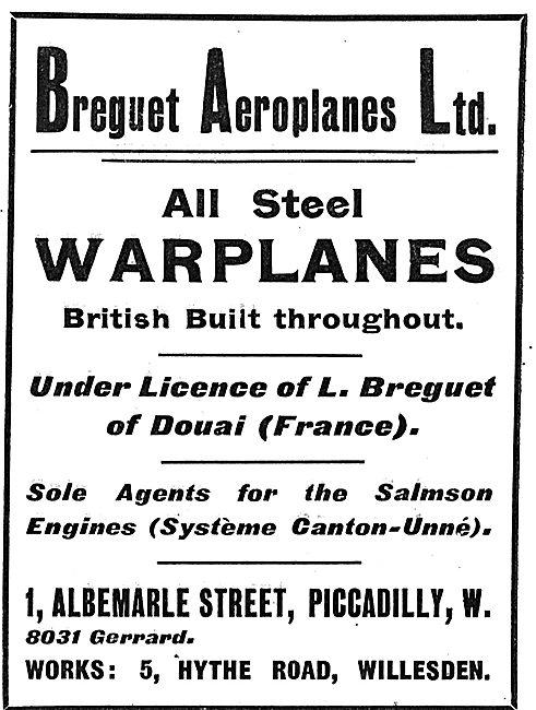 Breguet British Built All Steel Warplanes