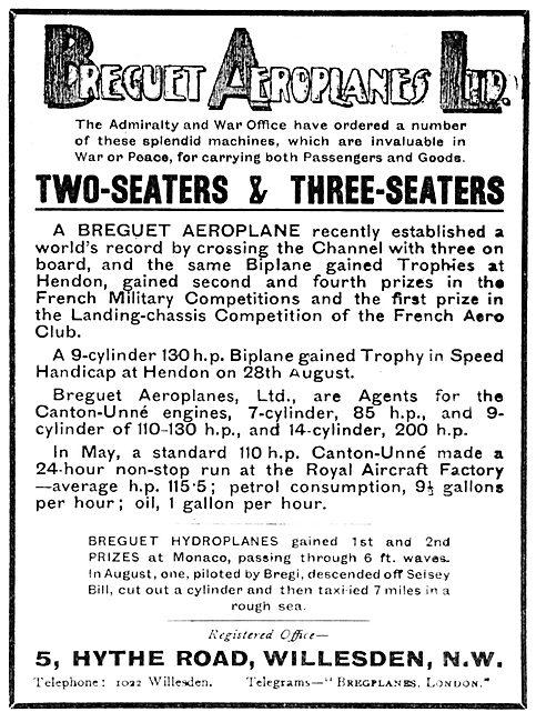 Breguet Aeroplanes 1913