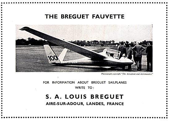Louis Breguet Fauvette Sailplane