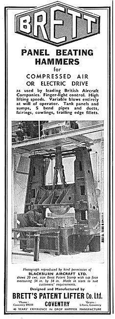 Brett's Patent Lifter. Engineering Machinery. Brett Patent Stamp