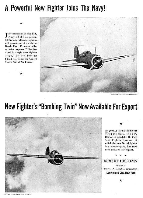 Brewster F2A-1 - Brewster Model 138