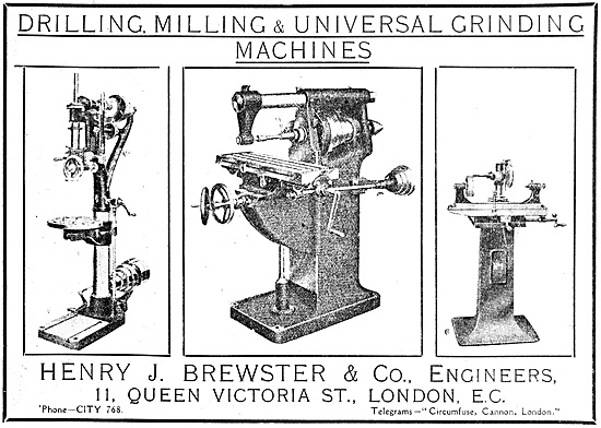 Henry Brewster Machine Tools