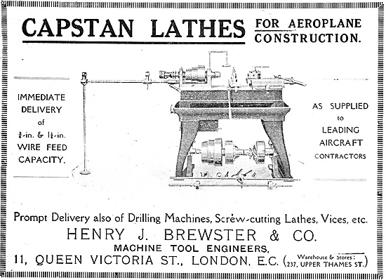 Henry Brewster Machine Tools Capstan Lathe