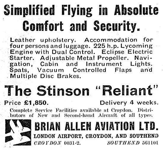 Brian Allen Aviation - Stinson Reliant