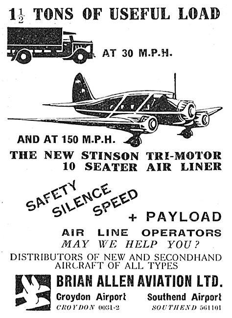 Brian Allen Aviation Stinson Reliant