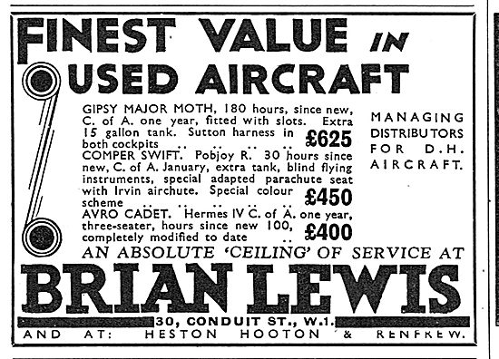 Brian Lewis & Co: Finest Value In Used Aircraft