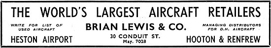 Brian Lewis & Co: The World's Largest Aircraft Retailers