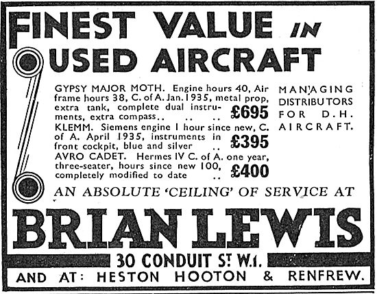 Brian Lewis & Co: New And Used Aircraft