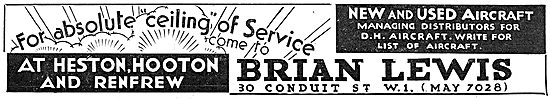 Brian Lewis & Co - New & Used Aircraft