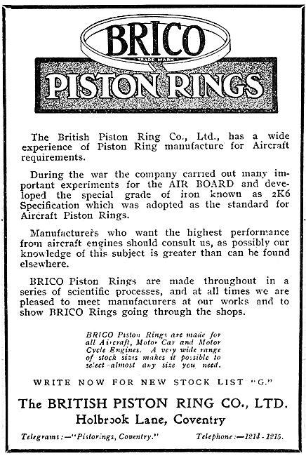 Brico Piston Rings 1920