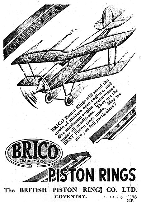 Brico Piston Rings Are Specially Designed For Aircraft Engines