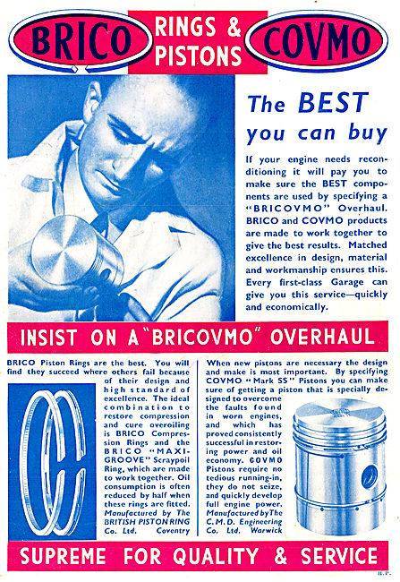 Brico - Covmo. Bricovmo Piston Rings: Brilybdenum