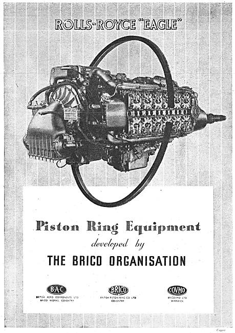 Brico Piston Rings - British Aero Components Bricovmo