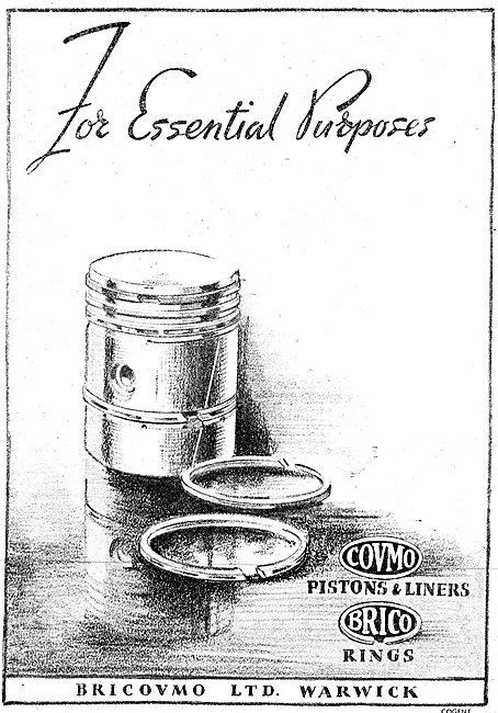 Bricovmo Pistons, Piston Rings & Cylinder Liners 1943 Advert