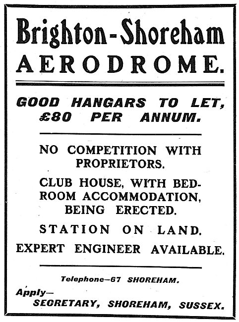 Brighton-Shoreham Aerodrome Hangars To Let - £80.00 PA