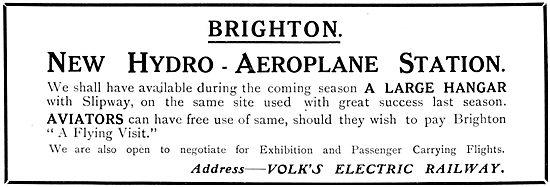 Brighton Hydro-Aeroplane Station. Volks Electric Railway
