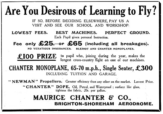 Maurice Chanter Flying School - Brighton Shoreham