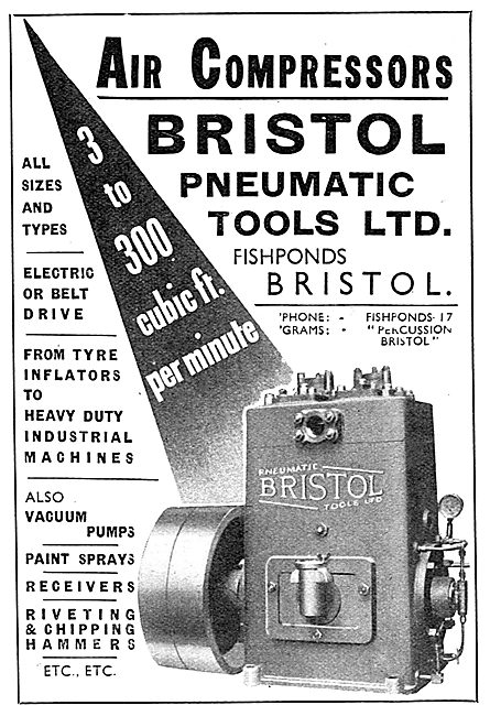 Bristol Pneumatic Tools: Air Compressors For Aircraft Industry