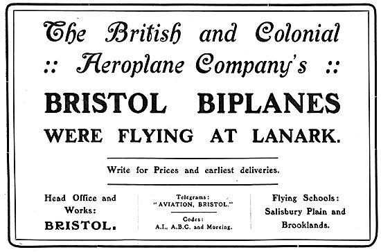 British & Colonial - Bristol Biplanes At Lanark