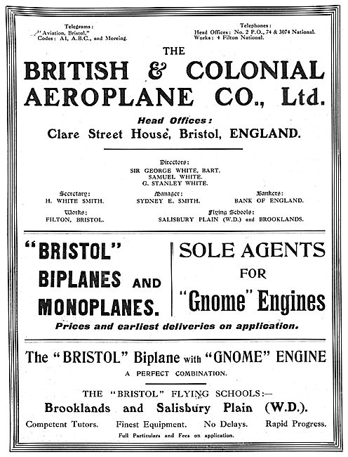 British & Colonial - Bristol : Agents For Gnome Engines