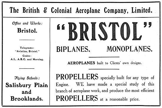 British & Colonial Aeroplane Company- Bristol