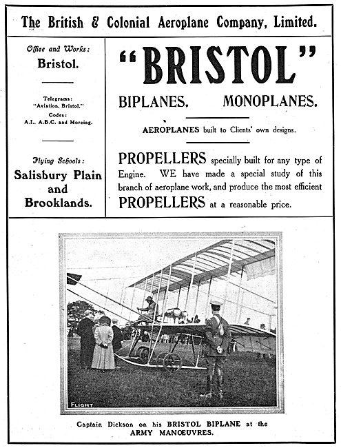 British & Colonial - Bristol : Capt Dickson Army Manoeuvres