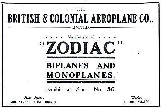 Bristol & Colonial Zodiac Biplanes & Monoplanes