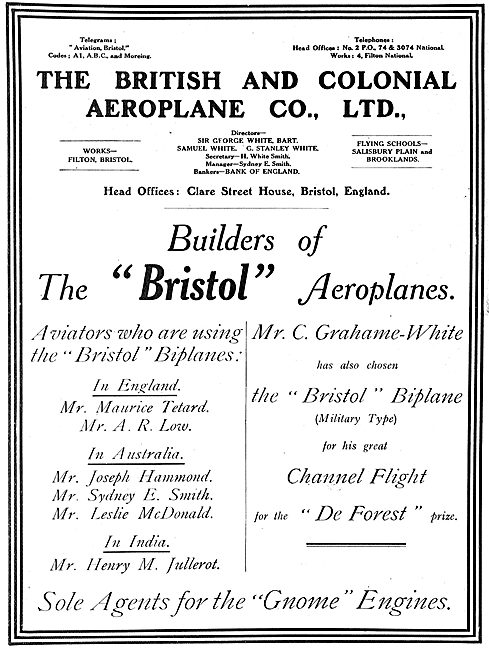 British & Colonial - Builders Of Bristol Aeroplanes