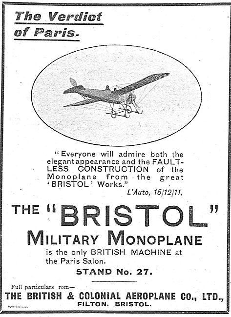 The Bristol Military Monoplane