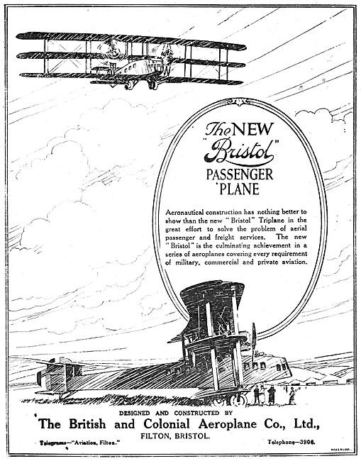 Bristol Triplane Passenger Aircraft 1919