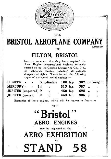 Bristol Aeroplane Company - Lucifer - Mercury - Jupiter