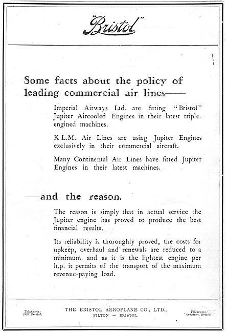 Bristol Jupiter Engines In use With Imperial Airways & KLM