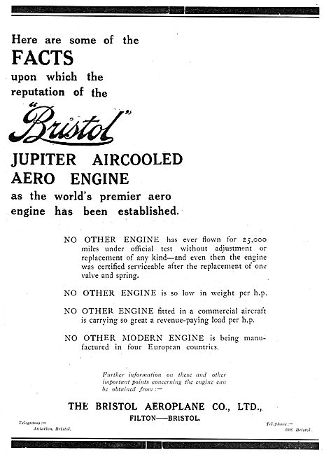 Some Facts Upon Which The Reputation Of The Bristol Jupiter ...