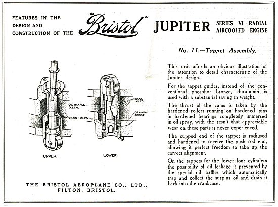 Features Of The Bristol Jupiter: No 11 Tappet Assembly