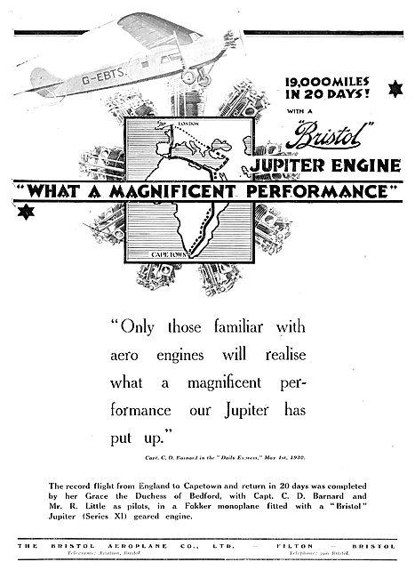 19,000 Miles In 20 Days With A Bristol Jupiter Aero Engine