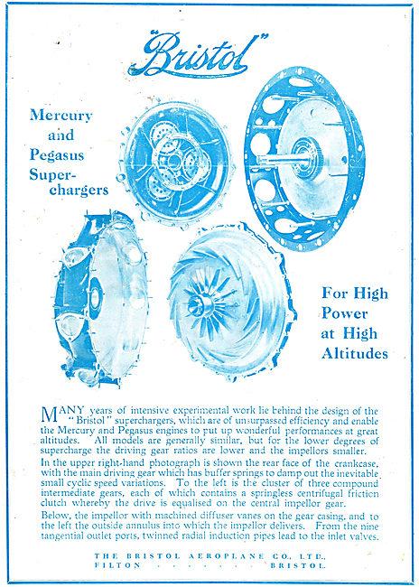 Bristol Mercury & Pegasus Aero Engine Superchargers