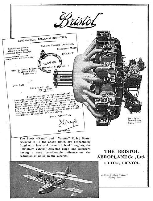 Bristol Pegasus Aero Engine Exhaust Silencer - Short Kent